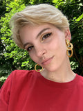1990s Gold & Bling Hoops
