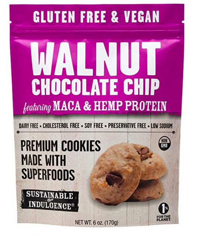 Sustainable Indulgence - Gluten Free, Vegan Cookies with Superfoods, Walnut Chocolate Chip (Pack of 3)
