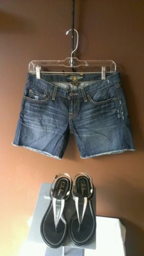New Lucky Brand trendy blue denim shorts Sz 0/25