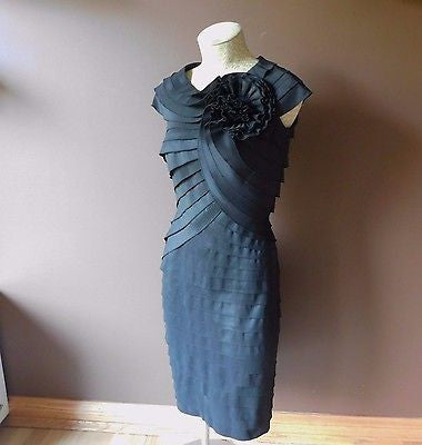 Tadashi Collection black formal dress Sz 6, excellent condition!