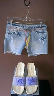 Vanilla Star distressed jeans shorts Sz 5, excellent condition
