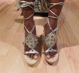 NEW Report Silver wedge sandals Sz 8.5 M, great for the Season!