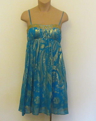Aidan Mattox blue flattering and glittering dress! Sz 2, NEW