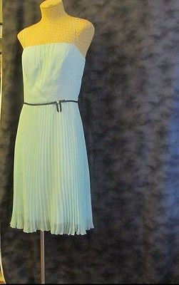 A.B.S aqua pleated formal dress by Allen Schwartz Sz 6, excellent condition!