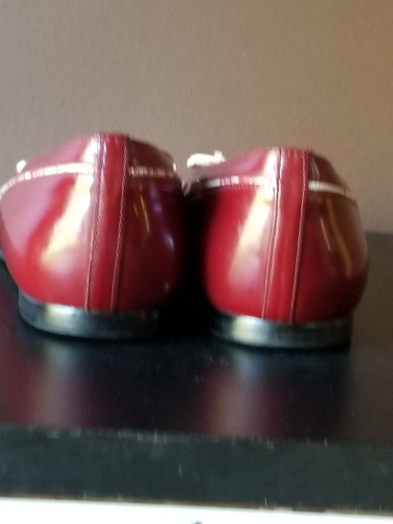 Talbots red flats, 8.5
