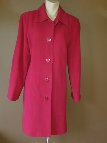 Kristen Blake wool blend red coat, Sz 12