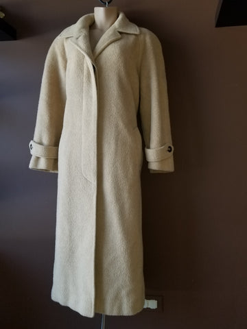 Regency London, New York wool/cashmere long tan Winter coat, Sz 12,  NEW
