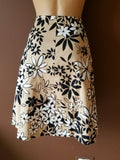 Necessary Objects tan background floral skirt, Sz small