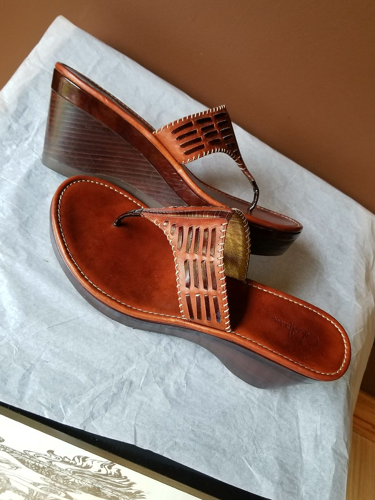 Cole Haan Nike Air brown leather sandals, Sz 10 B