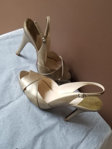Cole Haan Nike Air Nude formal slingbacks, Sz 7.5 B