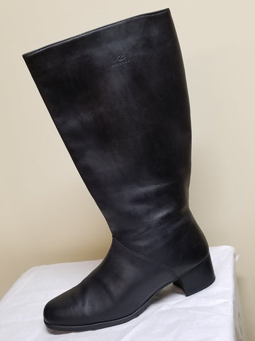 Regence black leather knee high boots, size 11