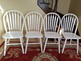 Walter of Wabash round small charcoal gray dining table with 4 white chairs