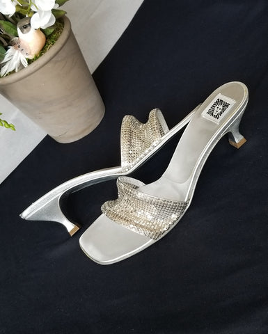 Anne Klein silver sandals, great for Spring size 8.5M, made in Italy