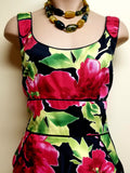 Donna Ricco New York multi-color floral Spring/Summer dress, size 10