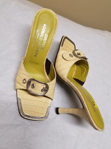 Couture Donald J Pliner yellow dress up sandals, size 7.5 M