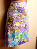Talbots multi-color floral skirt, size 10