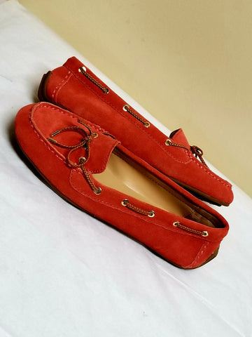 Talbots reddish pink trendy loafers, size 7 M