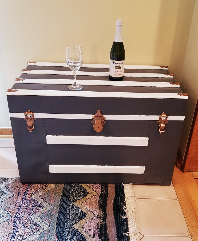 Eagle Lock Company Antique Trunk Coffee Table with storage, size medium
