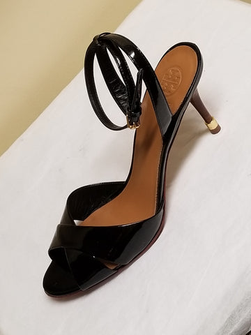 Tory Burch black formal high heels, size 10.5 M