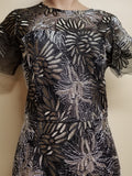 Alexia Admor black, gold and silver intricate dress, size medium