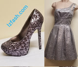 Teezeme silver sparkle/shimmer dress, size 3