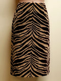 Talbots brown zebra print skirt, size 6 petites (SOLD!!)