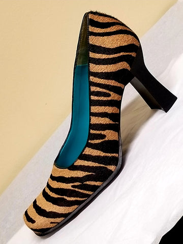 Nine West brown Zebra print pumps, size 7.5 M