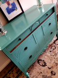 Antique dresser/entryway table refinished in modern colors, size small
