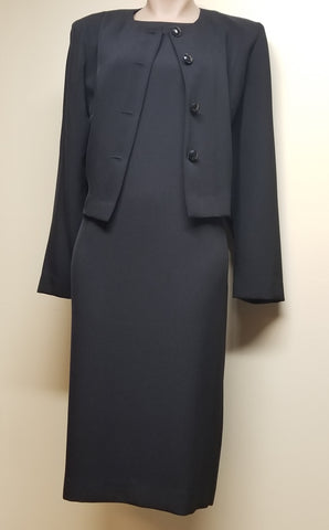 Leslie Fay black dress suit, size 10 Petite