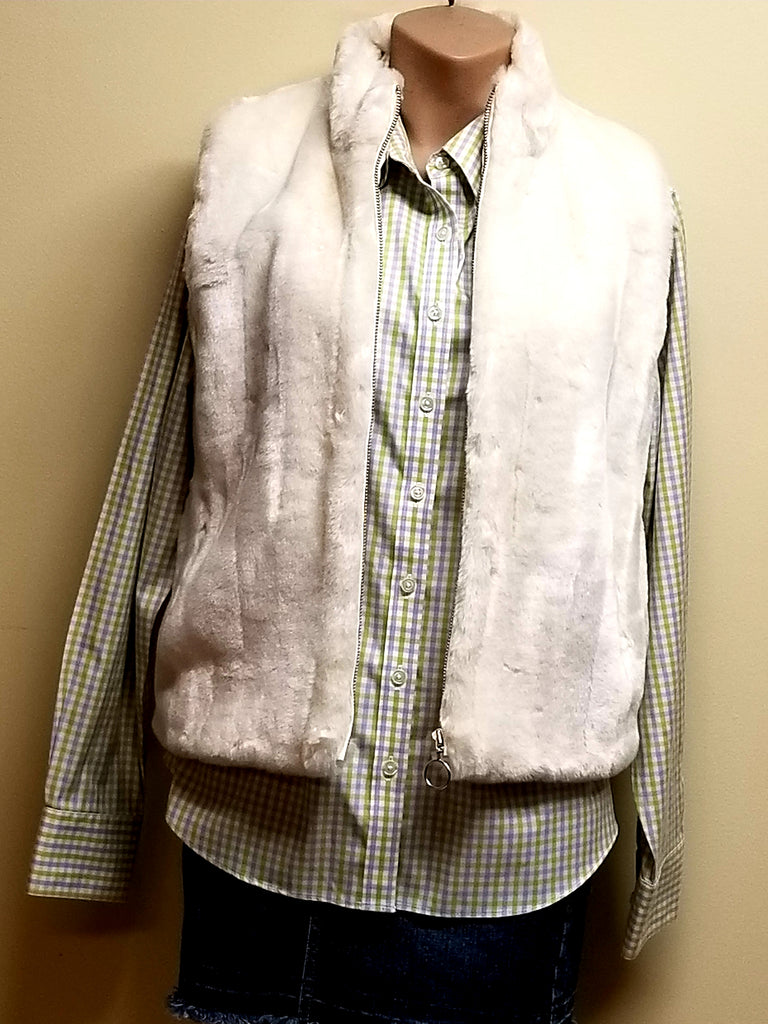 Ann Taylor Loft winter white vest jacket, size medium