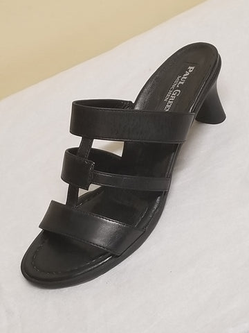 Paul Green designer black sandals, size AT 5.5 (US 7)