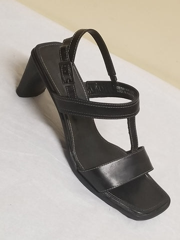Paul Green designer black sandals, size AT 4.5 (US 6)