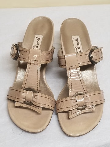 Paul Green Munchen tan?nuetral sandals, size AT 5.5 (US 7)