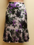 Ann Taylor multi-color skirt with lilac patterns, size 4