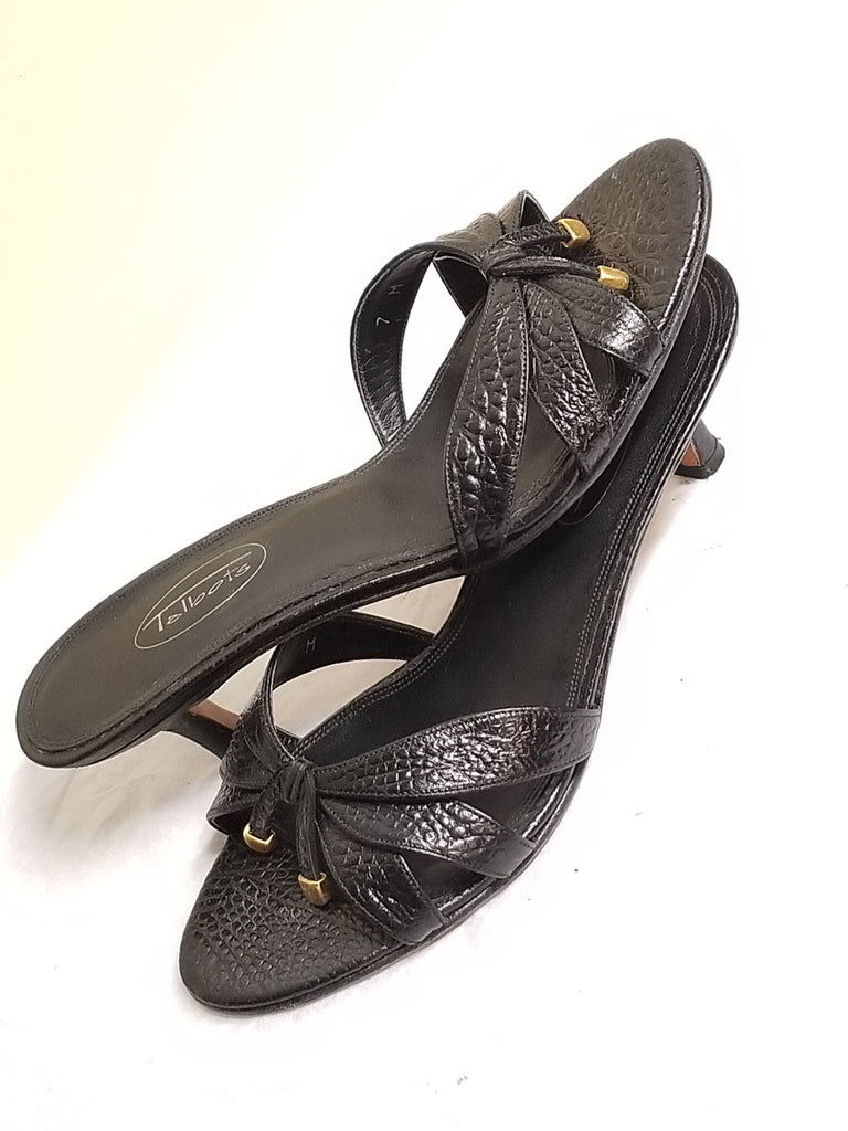 Talbots  dressy black leather sandals, size 7M