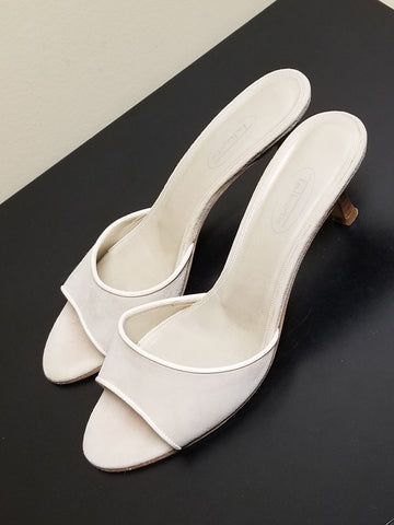 Talbots ivory open toe sandals, size 8 M