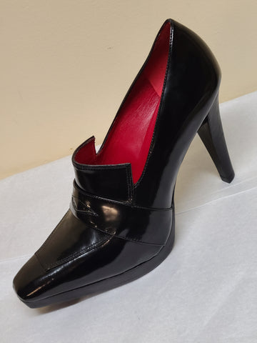 Charles Nolan New York high heels black pumps, Sz US 10 (EURO 40.5)