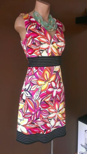 dBy Ltd. Multi-color dress Sz 8. Very trendy Spring colors!