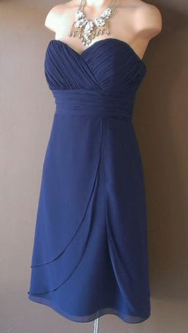 Bill Levkoff navy blue dress Sz 8, great for wedding!