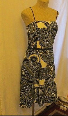 A.B.S black and white paisley patterns dress by Allen Schwartz Sz 6, NEW