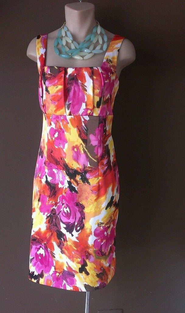 Ronni Nicole multi-color dress Sz 8, trendy colors for the Season!