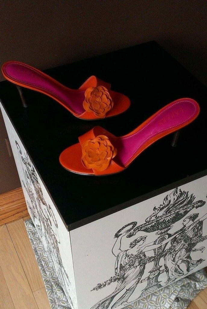 Ralph Lauren orange sandals Sz 9.5 B
