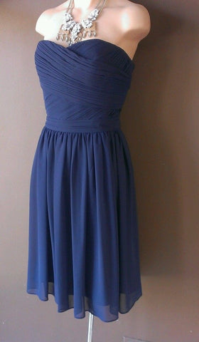 Bill Levkoff navy blue dress Sz 10, great for wedding.