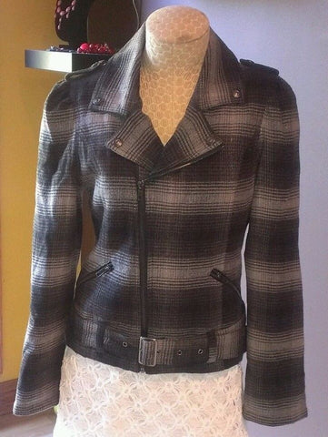 NEW stunning DKNY gray & black jacket Sz M,
