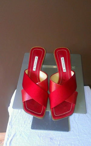 Bruno Magli red sandals Sz 6.5B, excellent condition