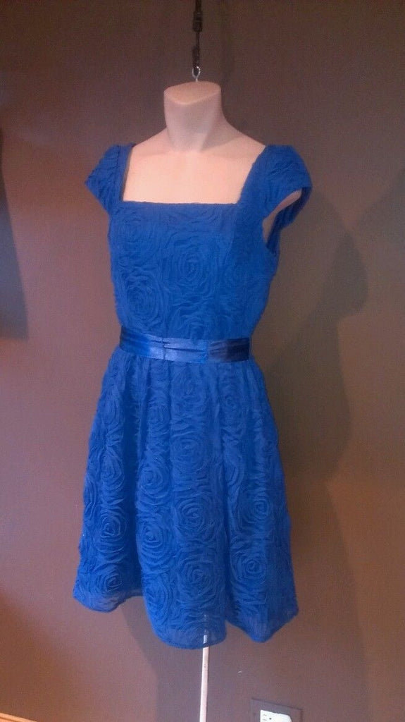 NEW Adrianna Papell blue elegant dress Sz 6. Going to a wedding?