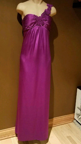 BCBGMaxazria purple formal dress size zero