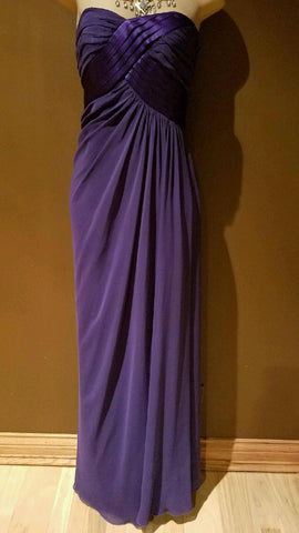 A.B.S Collection designer purple silk formal chiffon dress size 4