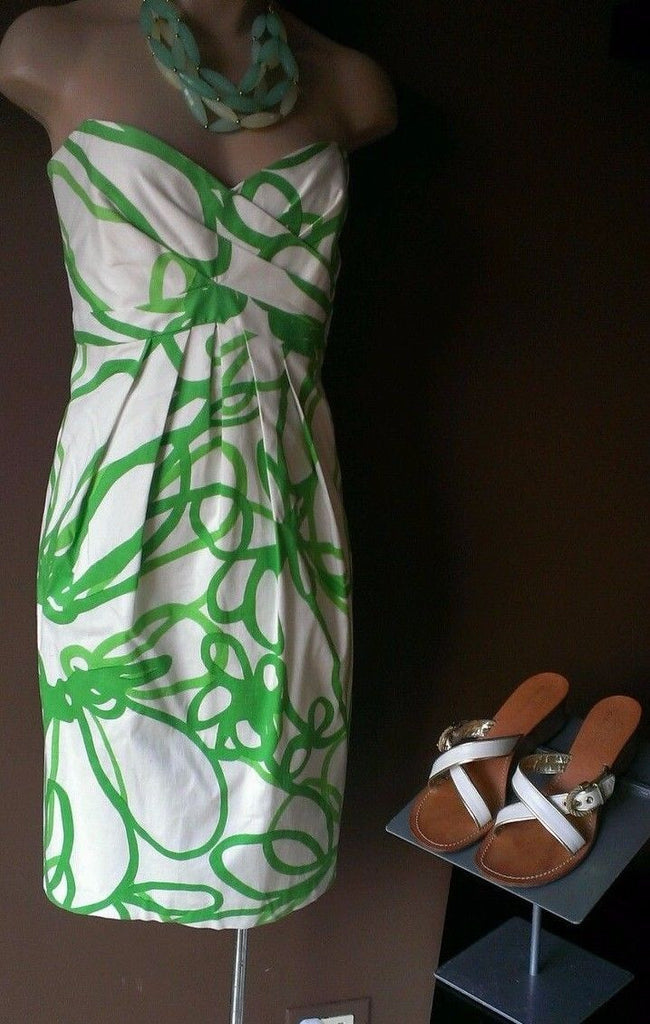 David Meister green and white dress, Sz 10