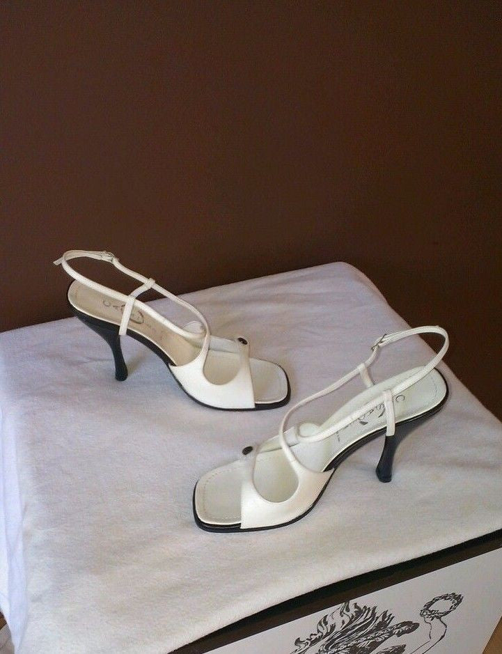 NEW Casadei Italian made white formal sandals Sz 6.5 B